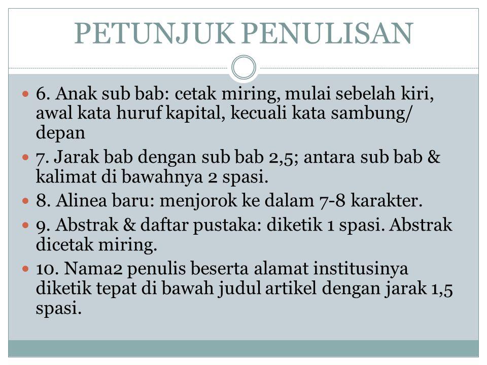 PETUNJUK PENULISAN 6.