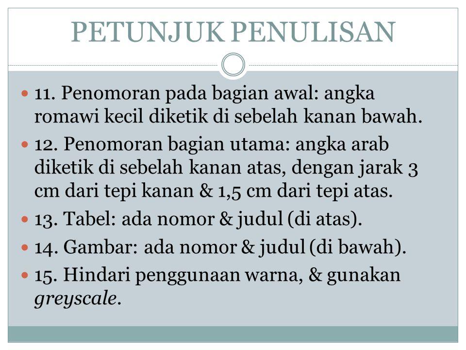 PETUNJUK PENULISAN 11.