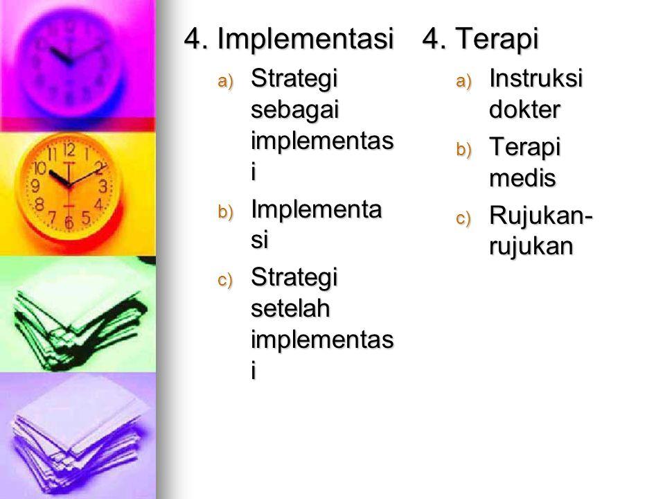 3. Perencanaan a) Menyusun prioritas b) Merumuskan sasaran c) Mengembangk an tujuan d) Menulis rencana asuhan keperawatan e) Mendelegasik an aktivitas