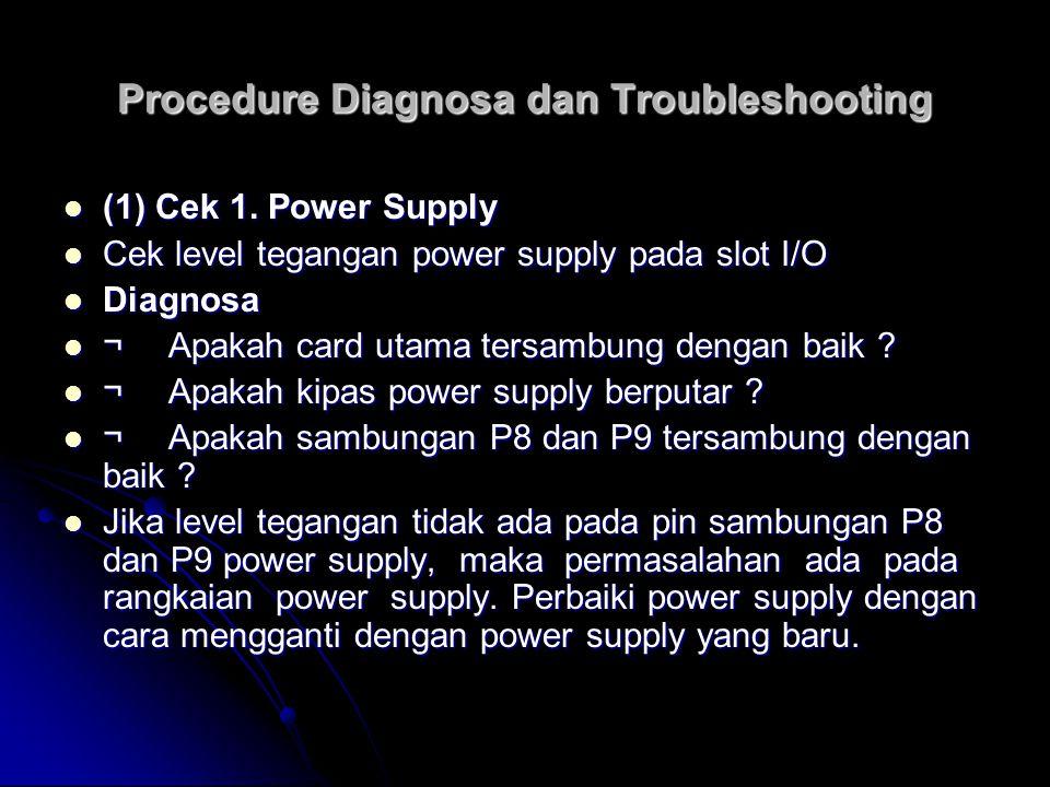 Procedure Diagnosa dan Troubleshooting (2) Cek 2.Signal clock (2) Cek 2.