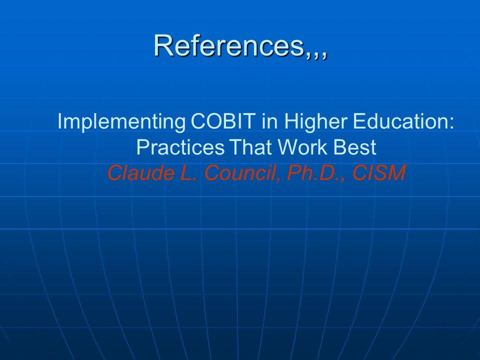 Methods CoBiT CSF, key goal indicators ( KGIs ) dan key performance indicators ( KPIs ) digunakan untuk mengevaluasi resiko CoBiT CSF, key goal indicators ( KGIs ) dan key performance indicators ( KPIs ) digunakan untuk mengevaluasi resiko CoBiT maturity model digunakan untuk mengevaluasi perkembangan dan pelaksanaan dari peraturan - peraturan, prosedur - prosedur dan kontrol - kontrol CoBiT maturity model digunakan untuk mengevaluasi perkembangan dan pelaksanaan dari peraturan - peraturan, prosedur - prosedur dan kontrol - kontrol Semua informasi ini diberikan ke kanselir di SLCC, dan keputusan dibuat dengan menerapkan DS5 CSF (Critical Success Factor) Semua informasi ini diberikan ke kanselir di SLCC, dan keputusan dibuat dengan menerapkan DS5 CSF (Critical Success Factor) Data di koleksi dan direkam kedalam database.