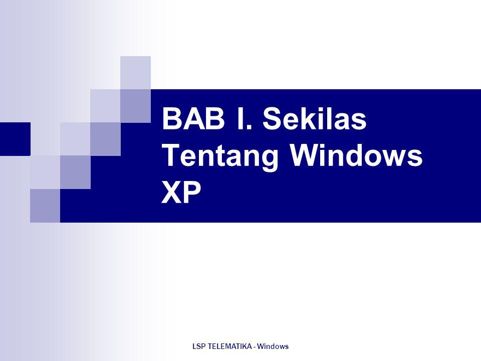 BAB I. Sekilas Tentang Windows XP