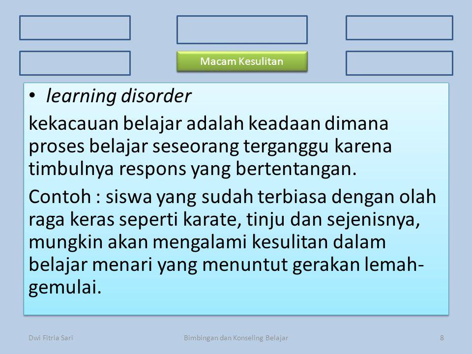 Konsep Dasar Faktor Penyebab 3 Kriteria Kesulitan Belajar 3 Kriteria Kesulitan Belajar Ciri-ciri Prosedur Macam-macam kesulitan learning disorder keka