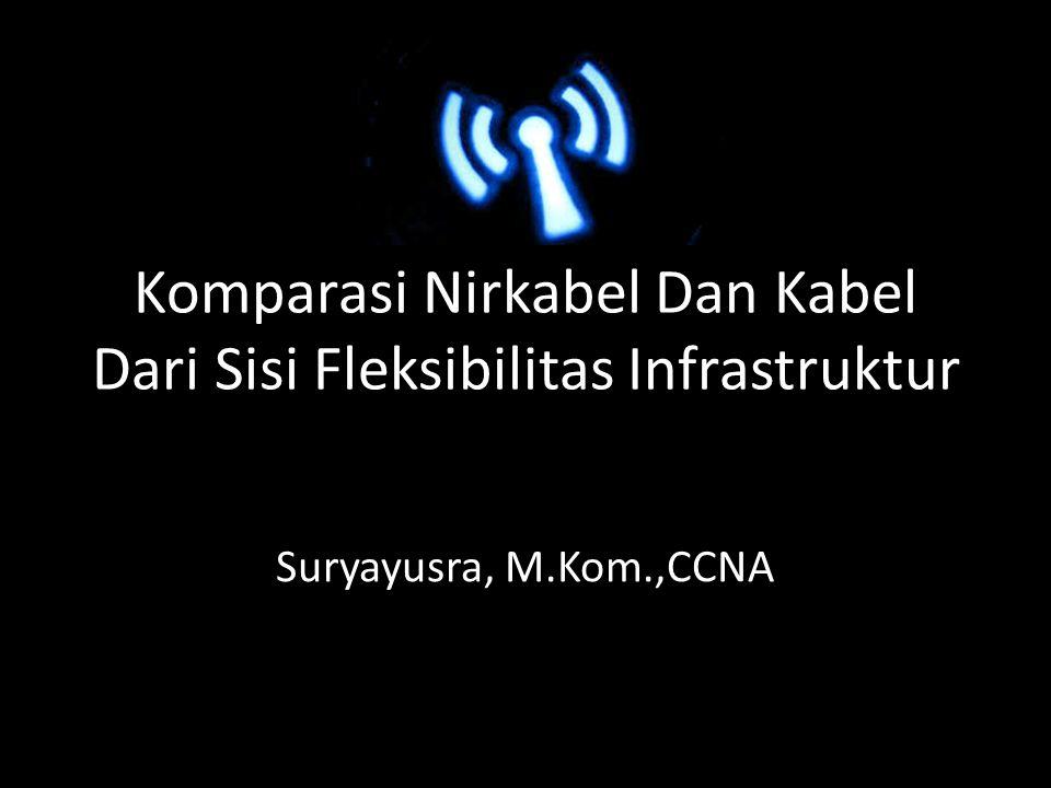 Komparasi Nirkabel Dan Kabel Dari Sisi Fleksibilitas Infrastruktur Suryayusra, M.Kom.,CCNA