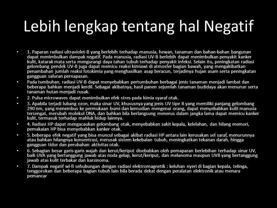 Lebih lengkap tentang hal Negatif 1.