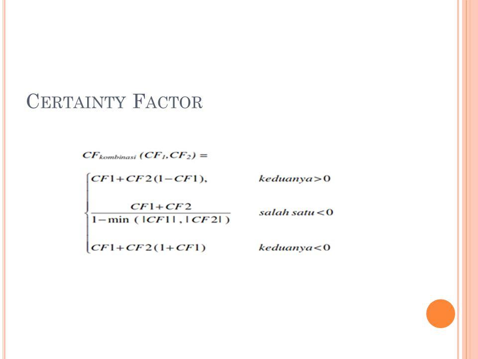 C ERTAINTY F ACTOR