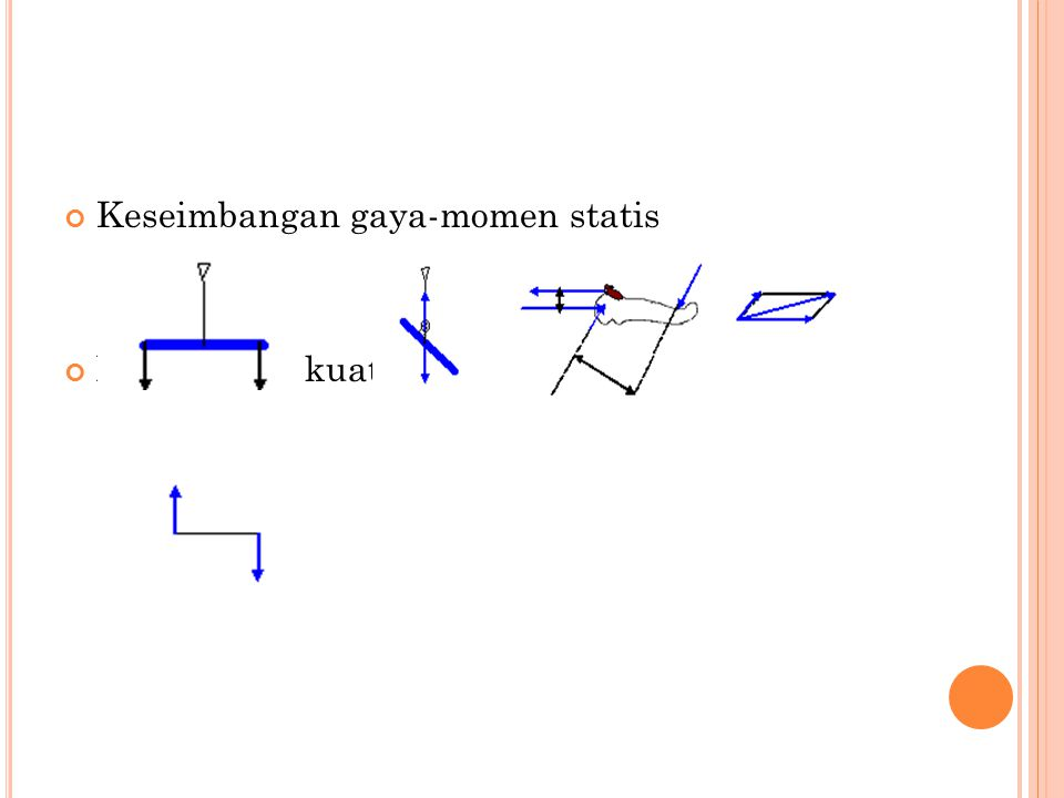 Keseimbangan gaya-momen statis Momen dari kuat (moment force)