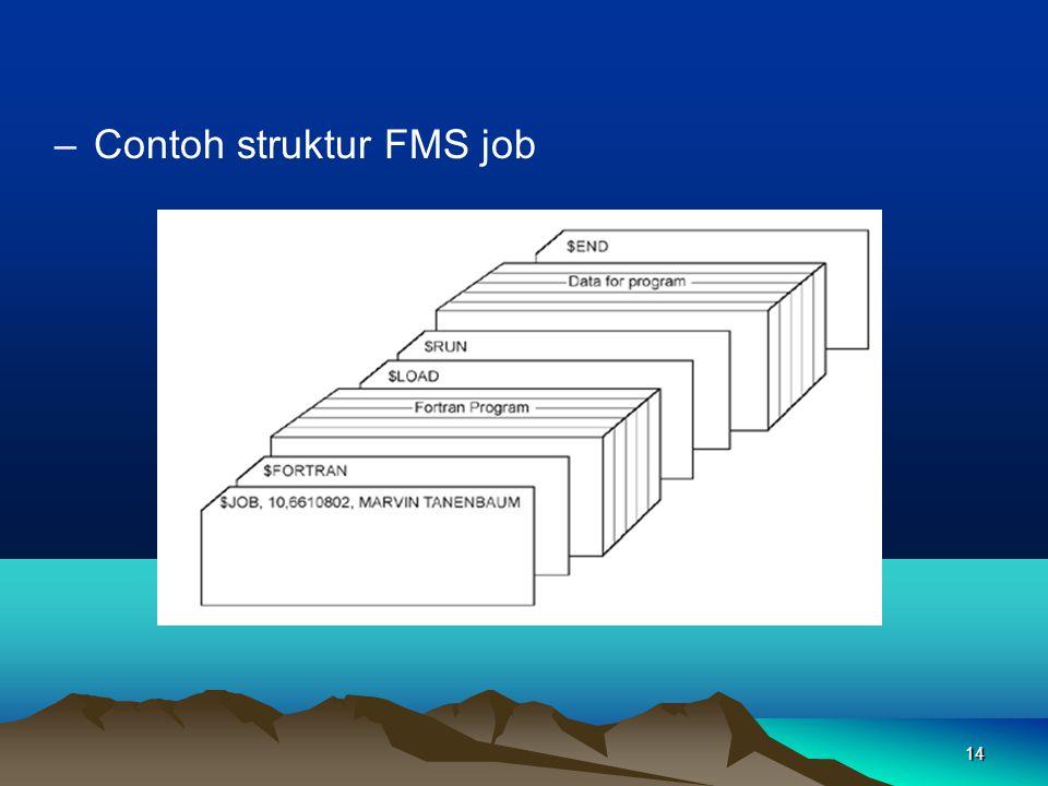 14 –Contoh struktur FMS job