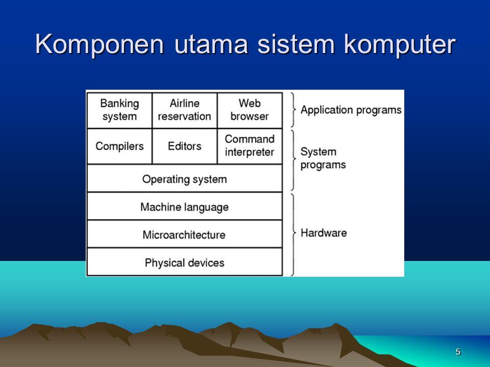 5 Komponen utama sistem komputer