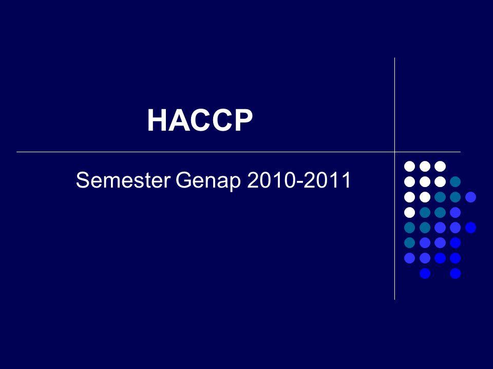 HACCP Semester Genap 2010-2011