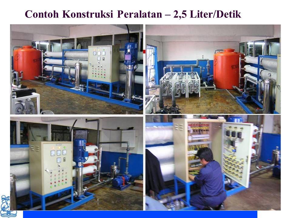 Couse note for ITB student. Permission for other uses to Prof. Deny Juanda Puradimaja Contoh Konstruksi Peralatan – 2,5 Liter/Detik