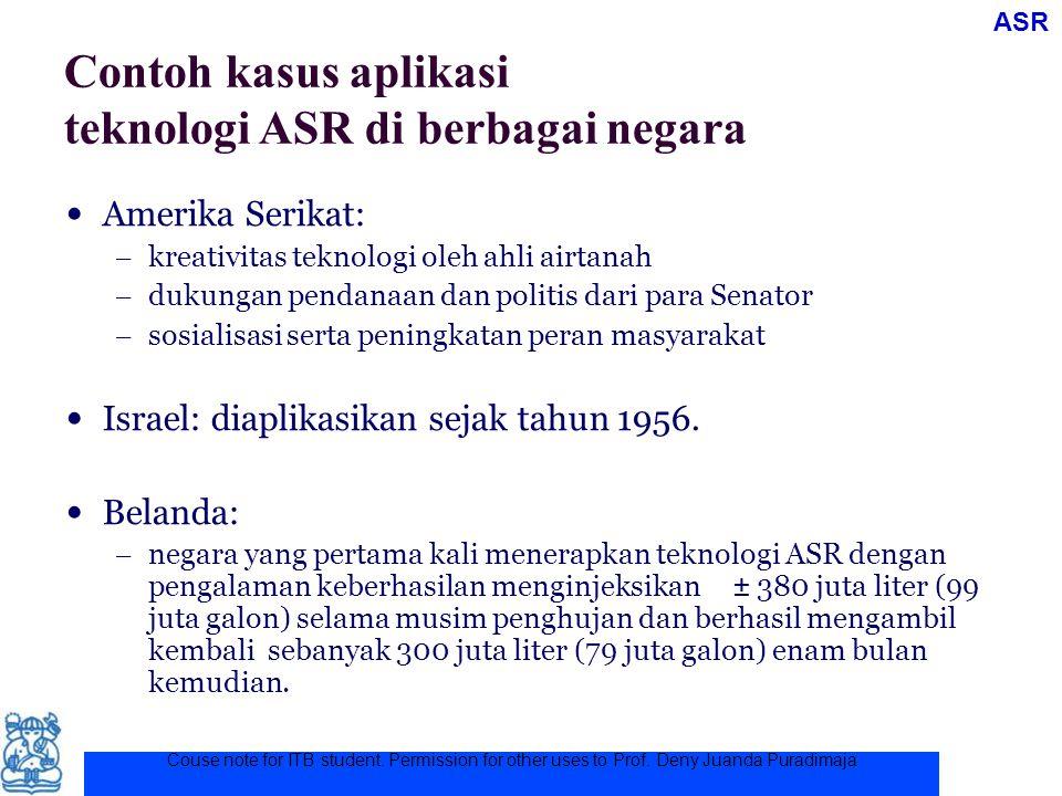 Couse note for ITB student. Permission for other uses to Prof. Deny Juanda Puradimaja Contoh kasus aplikasi teknologi ASR di berbagai negara Amerika S