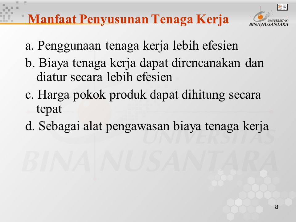 9 Informasi yang harus dicantumkan dalam Anggaran Biaya T.K Langsung a.