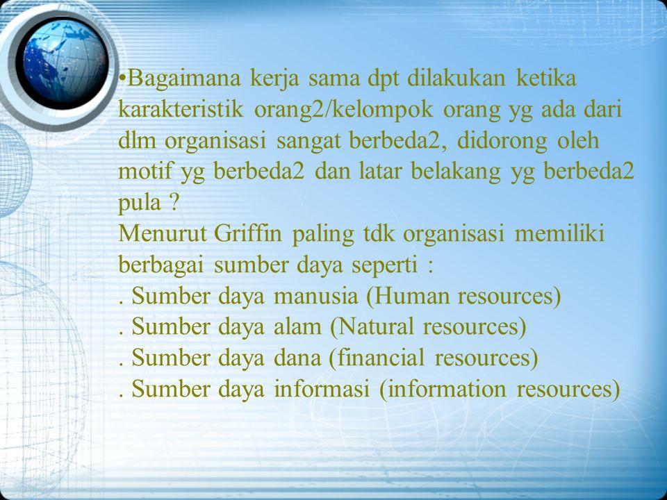 Organisasi dan Manajemen  Manajemen dalam Organisasi Organisasi adalah sekelompok orang yang bekerja sama dalam struktur dan koordinasi tertentu dala