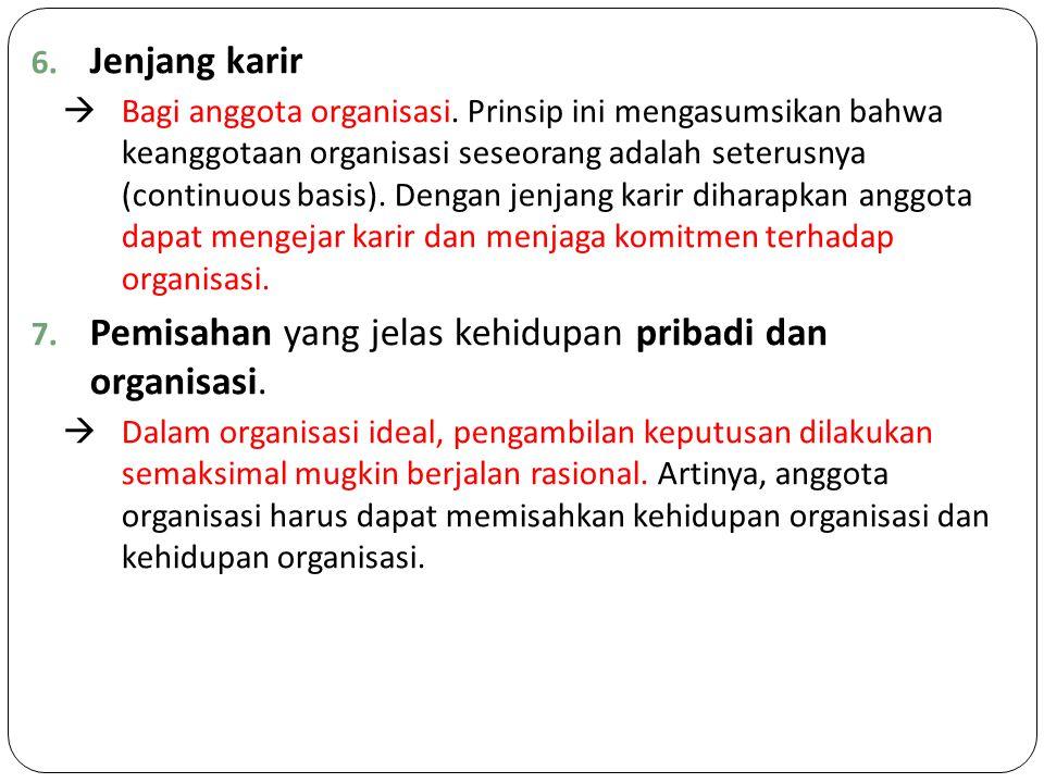 6.Jenjang karir  Bagi anggota organisasi.