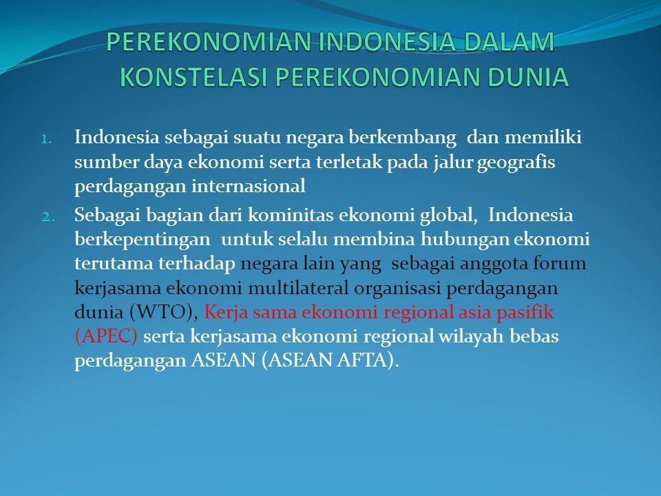 4. Fakta menunjukkan perekonomian Indonesia mewarisi dualistik sifat perekonomiannya yaitu a. Sektor modern (perkebunan, pertambangan dan perindustian