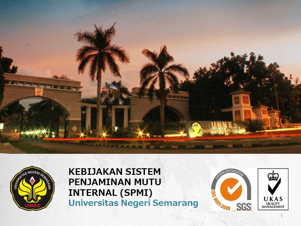 KEBIJAKAN SISTEM PENJAMINAN MUTU INTERNAL (SPMI) Universitas Negeri Semarang 1