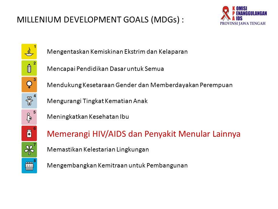 MILLENIUM DEVELOPMENT GOALS (MDGs) : Mengentaskan Kemiskinan Ekstrim dan Kelaparan Mencapai Pendidikan Dasar untuk Semua Mendukung Kesetaraan Gender d