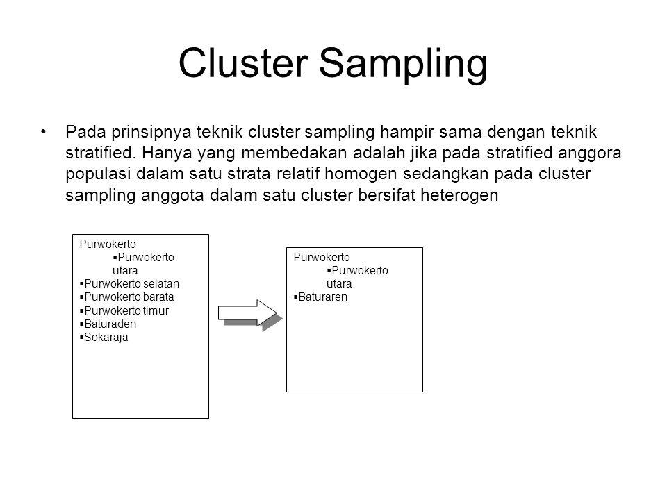 Double Sampng/Multyphase Sampling Double sample (sampel ganda) sering juga disebut dengan istilah sequential sampling (sampel berjenjang, multiphase-sampling (sampel multi tahap).