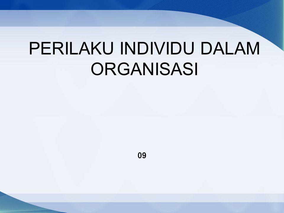 PERILAKU INDIVIDU DALAM ORGANISASI 09