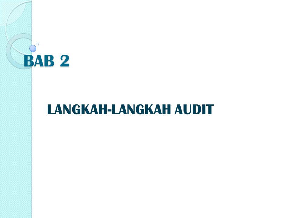 Langkah-langkah audit pada tahap ini meliputi: 1.