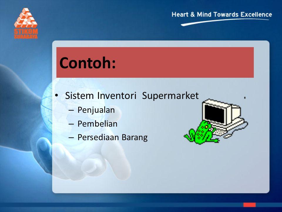 Contoh: Sistem Inventori Supermarket – Penjualan – Pembelian – Persediaan Barang