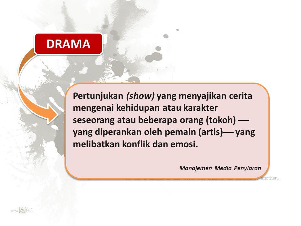 Pertunjukan (show) yang menyajikan cerita mengenai kehidupan atau karakter seseorang atau beberapa orang (tokoh)  yang diperankan oleh pemain (artis)