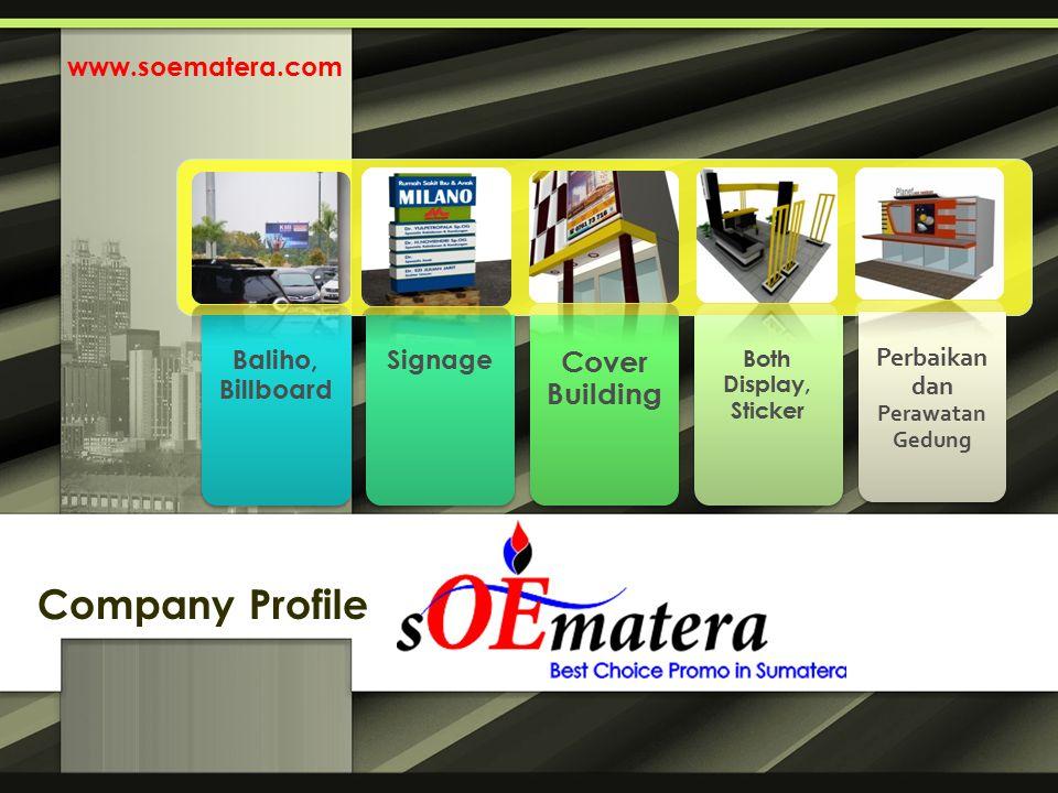 Baliho, Billboard Signage Cover Building Both Display, Sticker Perbaikan dan Perawatan Gedung Company Profile www.soematera.com