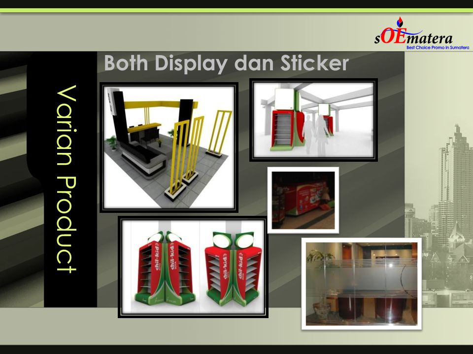 Varian Product Both Display dan Sticker