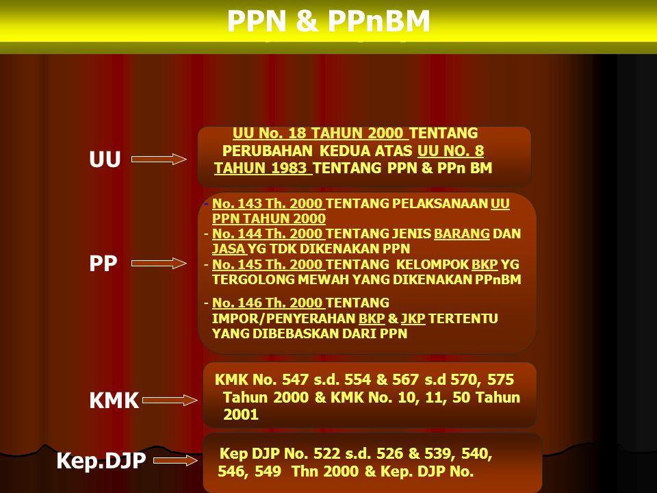 SLIDE UU No. 18 TH 2000 TENTANG PERUBAHAN KEDUA ATAS UU No. 8 TH 1983 TENTANG PPN & PPnBM