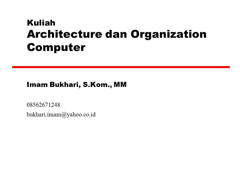 Outline of the Book [2]  CPU Structure and Function  Reduced Instruction Set Computers  Superscalar Processors  Control Unit Operation  Microprogrammed Control  Multiprocessors and Vector Processing  Digital Logic (Appendix)‏