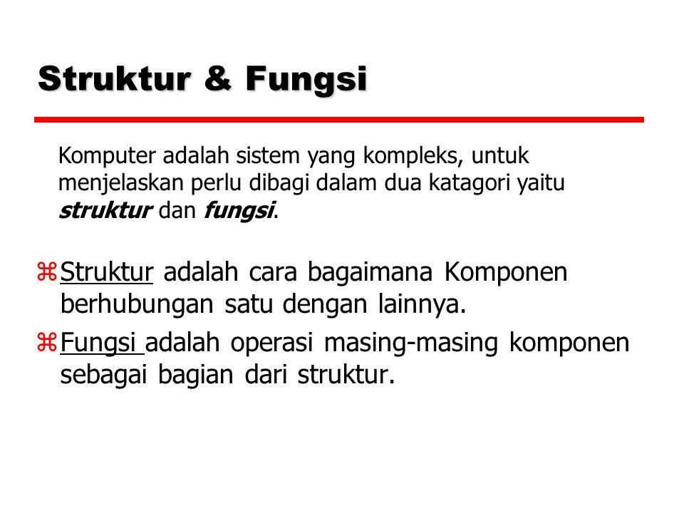 Struktur & Fungsi  Struktur adalah cara bagaimana Komponen berhubungan satu dengan lainnya.