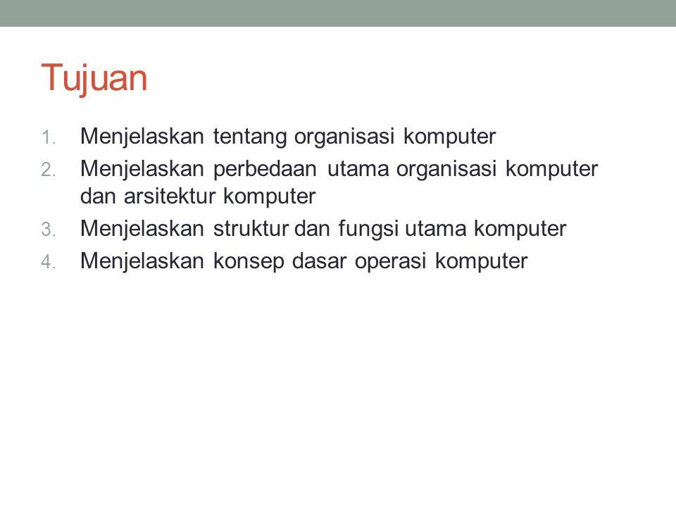 Tujuan 1.Menjelaskan tentang organisasi komputer 2.