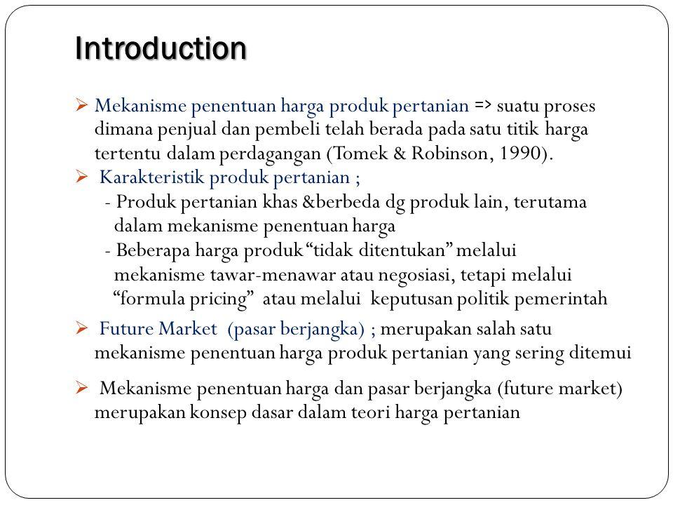 Pricing Mechanism Beberapa mekanisme penentuan harga produk pertanian ; 1.