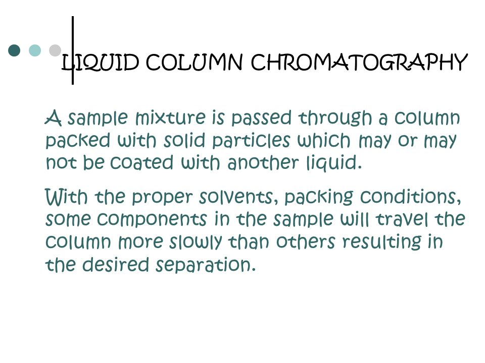 SIZE EXCLUTION CHROMATOGRAPHY Gel-Permeation Chromatography is a mechanical sorting of molecules based on the size of the molecules in solution.