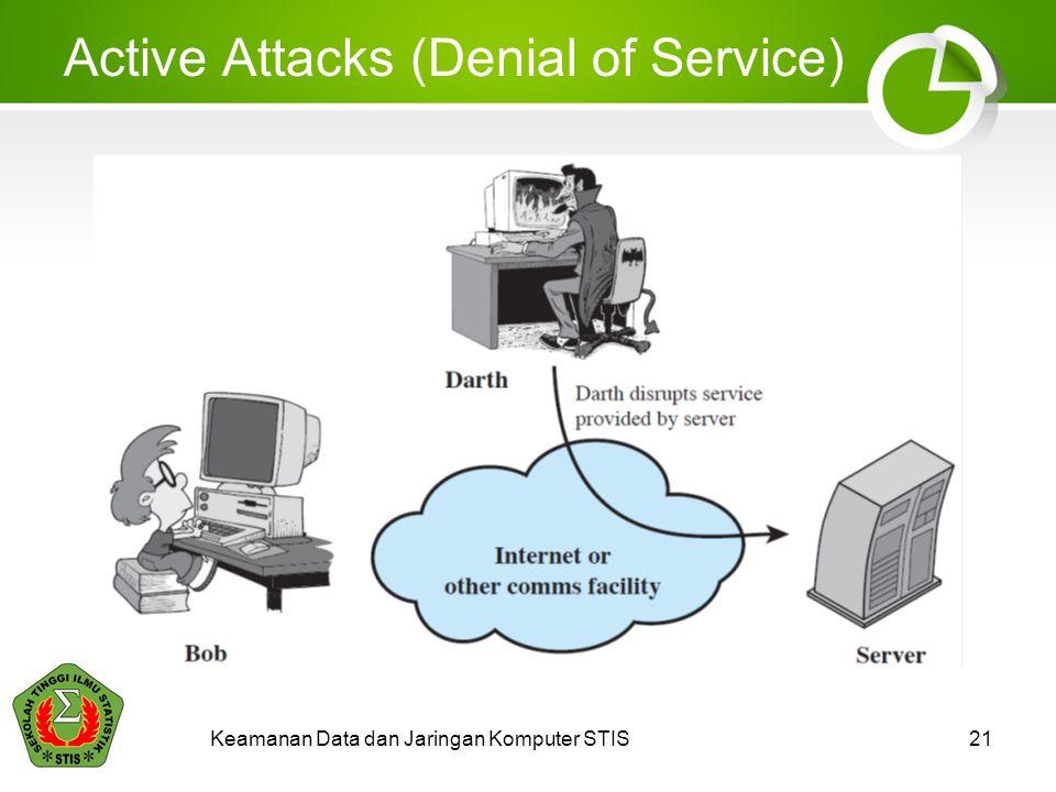 Active Attacks (Denial of Service) Keamanan Data dan Jaringan Komputer STIS21