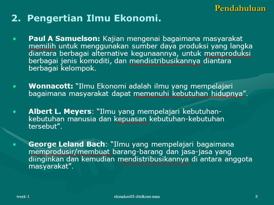 week-1ekmakro08-ittelkom-mna8 2.Pengertian Ilmu Ekonomi.
