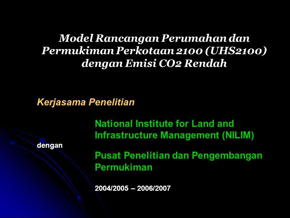 Tiga Tahap Kegiatan yaitu: Tahap 1 (2004/2005) : Faktor-faktor Permukiman Perkotaan yang Berpengaruh terhadap Emisi CO2 Tahap 2 (2005/2006) : Alternatif Rancangan Permukiman Perkotaan Tahap 3 (2006/2007) : Model Rancangan Permukiman Perkotaan