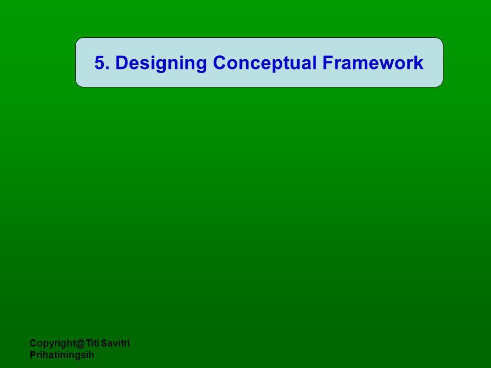Copyright@Titi Savitri Prihatiningsih 5. Designing Conceptual Framework