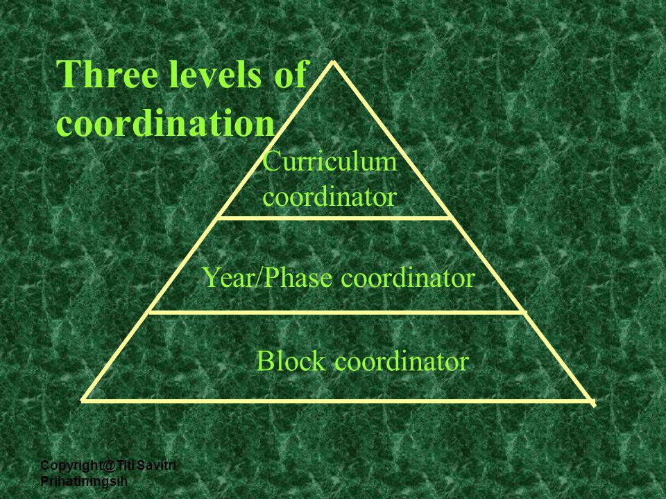 Copyright@Titi Savitri Prihatiningsih Macro curriculum Meso Curriculum Micro Curriculum Correspondence Accumulation Connection Integration Comprehensiveness