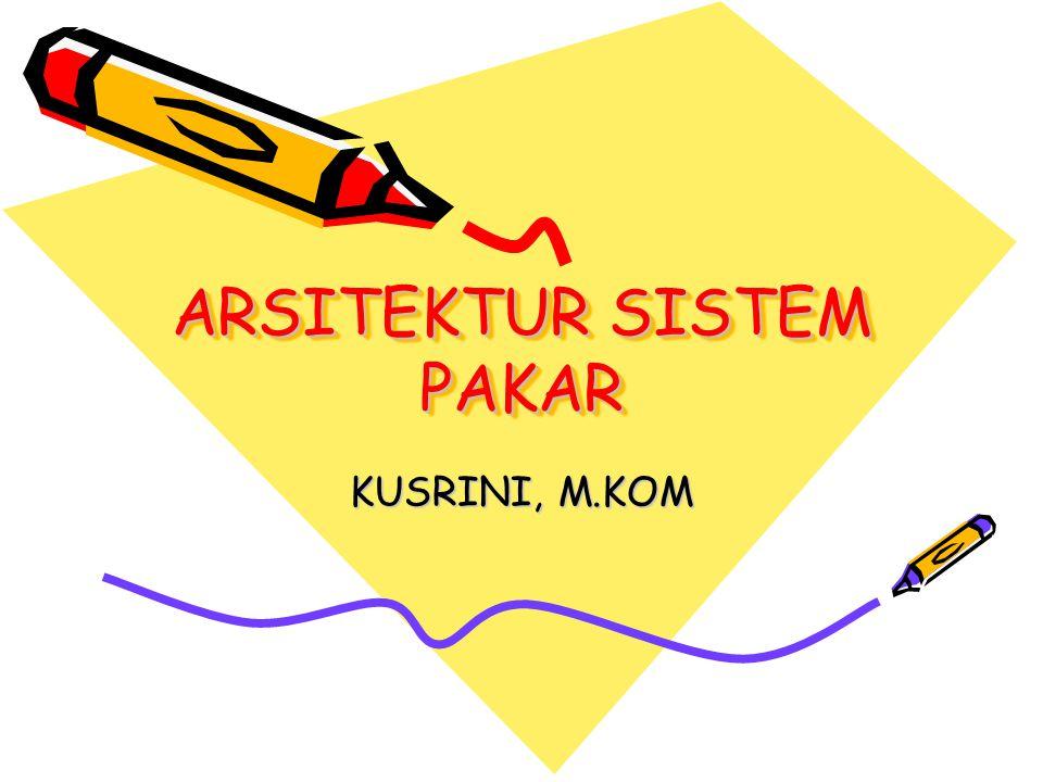 ARSITEKTUR SISTEM PAKAR KUSRINI, M.KOM