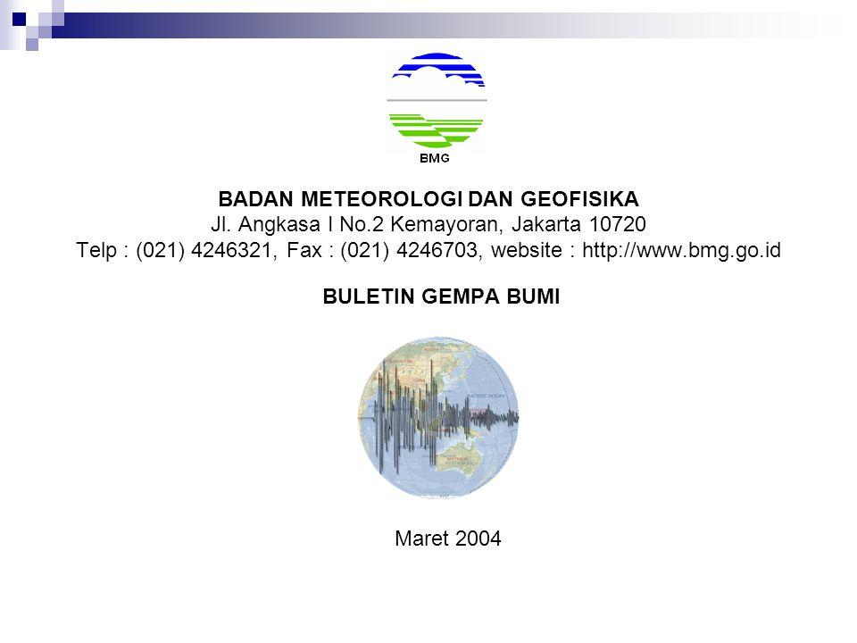 BADAN METEOROLOGI DAN GEOFISIKA Jl.
