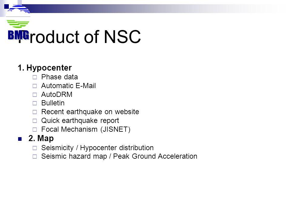 Hypocenter determination at NSC