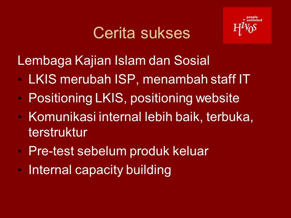 Cerita sukses Lembaga Kajian Islam dan Sosial LKIS merubah ISP, menambah staff IT Positioning LKIS, positioning website Komunikasi internal lebih baik