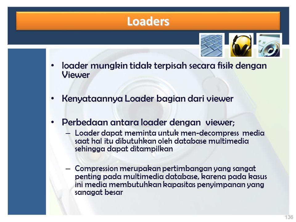 LoadersLoaders loader mungkin tidak terpisah secara fisik dengan Viewer Kenyataannya Loader bagian dari viewer Perbedaan antara loader dengan viewer;