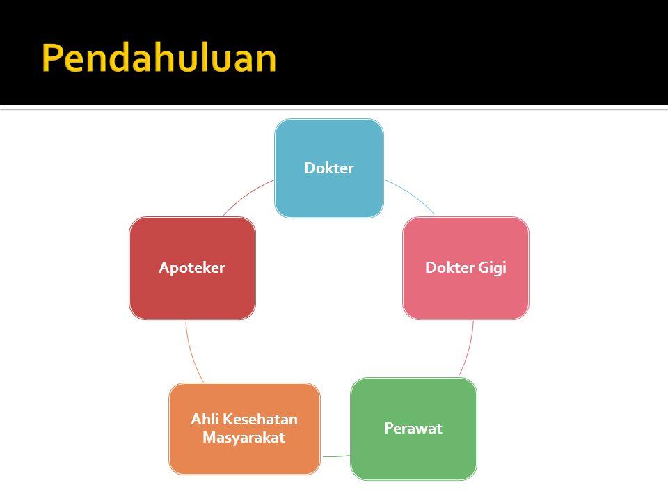 Dokter Dokter GigiPerawat Ahli Kesehatan Masyarakat Apoteker