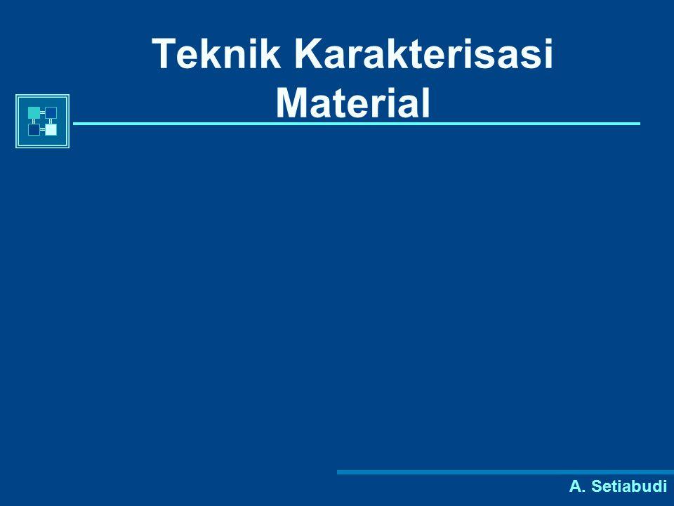 A. Setiabudi Teknik Karakterisasi Material