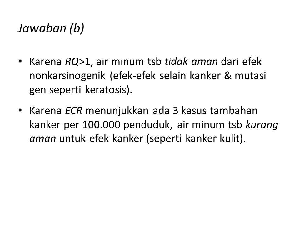 2. Jawaban (a) Intake nonkarsinogen: Intake karsinogen