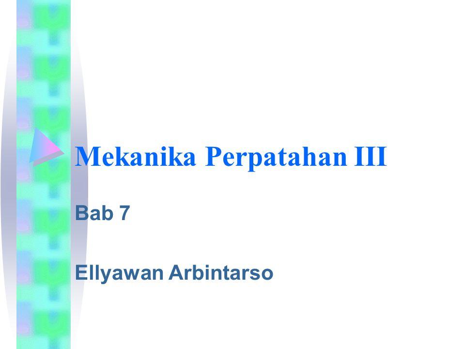 Ellyawan Arbintarso 22 Perhitungan Umur Lelah Contoh: Sebuah lempeng MnS ( magnesium sulfate ) yang besar diinklusi pada gulungan lempeng panas ( hot-rolled plate ), tegangan tegak lurus terhadap pengelasan sambungan T.