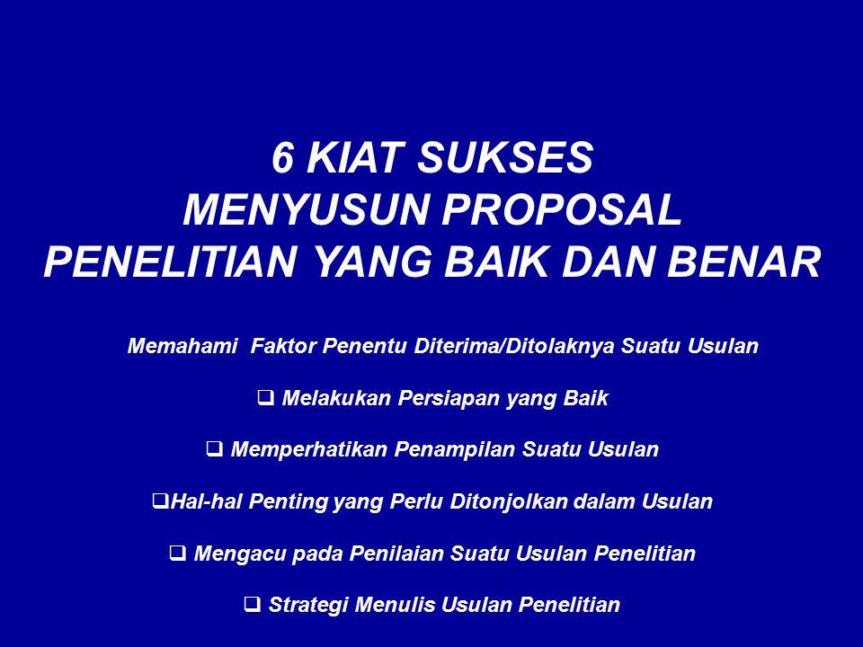  Apakah Proposal ?  PROPOSAL PADA HAKEKATNYA SEBAGAI : 1. ALAT KOMUNIKASI, 1. ALAT KOMUNIKASI, yang menyambung HUBUNGAN antara PENGUSUL (Peneliti) y